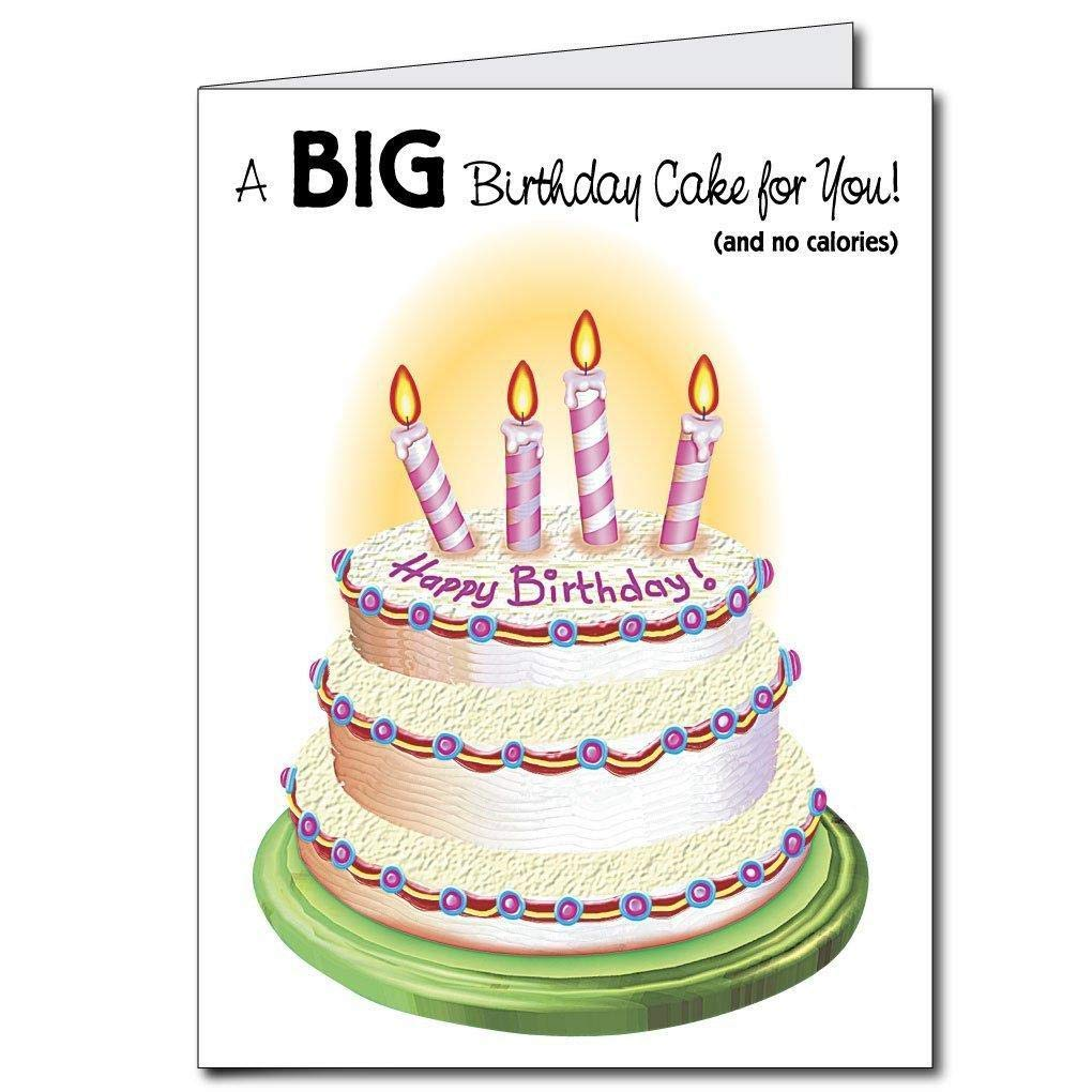 VictoryStore Jumbo Greeting Cards: Giant Birthday Card (birthday cake), 2'x 3' card with envelope by BigFunnyCards