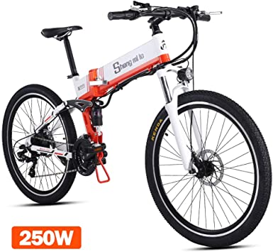 shengmilo 250W Motor Bicicleta eléctrica Plegable Shimano 21 ...