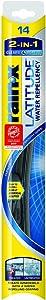 Rain-X 5079272-2 Latitude 2-in-1 Water Repellency Wiper Blade - 14-inches