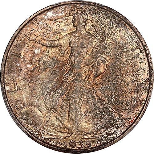 - 1935 D Walking Liberty Halves Half Dollar MS65 PCGS\CAC