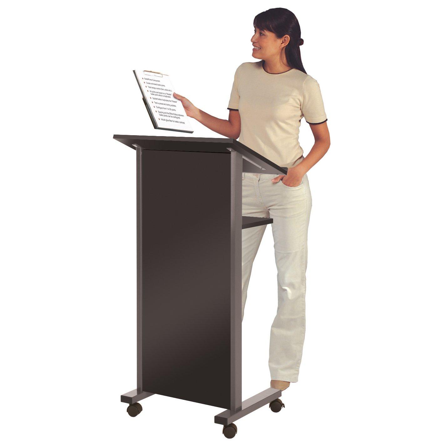 Wonderwall Mobile Lectern Stand in Black - Standing Reading Desk Wonderwall Products Ltd