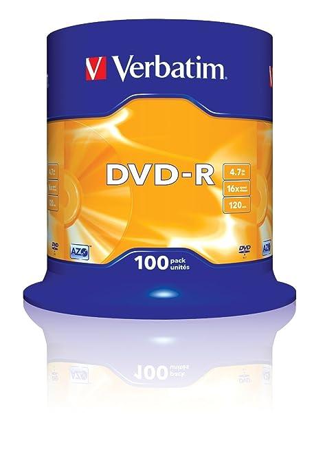 1249 opinioni per Verbatim DVD-R 16x Speed, Confezione da 100