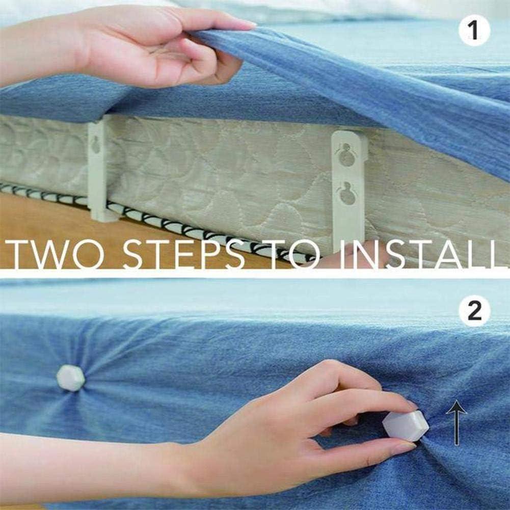 Chiusura per Supporto Fogli Fogli per Clip Antiscivolo LIU1949 Set di pinze per Lenzuolo da 4 Pezzi White Pinza Antiscivolo in Fogli
