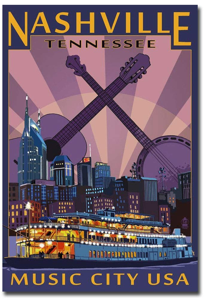 "Nashville Tennessee Music City Refrigerator Magnet Size 2.5"" x 3.5"""
