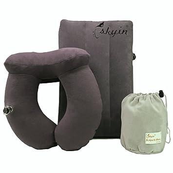 Amazon.com: SKYIN inflable almohada de cuello para viaje ...