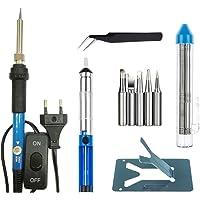 TOOGOO(R) 7 en 1 kit fer a souder de temperature reglable 60W Kit fer a souder pointes pompe soudure pincettes tube