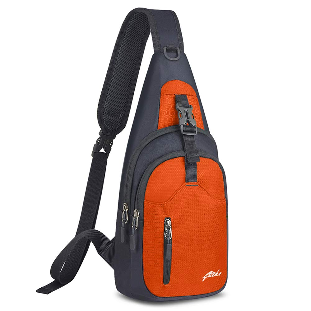 Y&R Direct Sling Bag Sling Backpack,Shoulder Chest Crossbody Bag Purse Nylon Lightweight Multicolor Small Daypack Outdoor Hiking Camping Travel Women Men Boy Girls Kids Gifts (Orange)