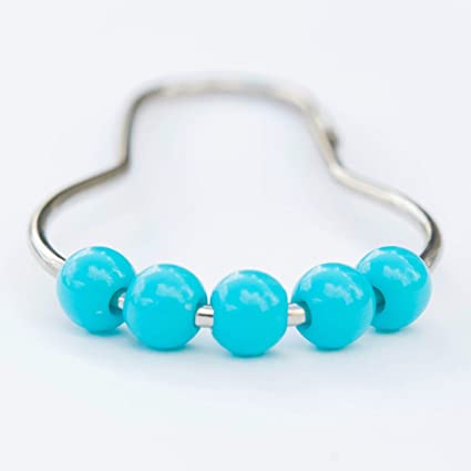 Image Unavailable Not Available For Color DOTZ Turquoise Roller Shower Curtain Hooks