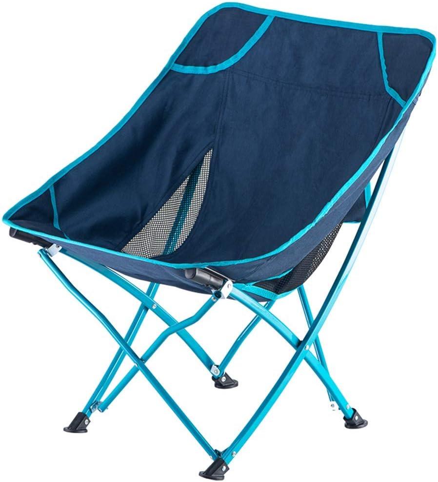 LOCGFF Silla de Camping, Silla Plegable Ligera para Camping, Antideslizante, con Bolsa de Almacenamiento, 120 kg / 264 LB, Apta para Exteriores, Barbacoa, Playa