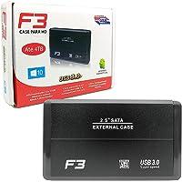 """Case para HD Externo Sata 2,5"""" USB 3.0 Até 4TB"""