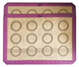 Infinite Home: Non Stick Silicone Mats -2 Pack Measurement Mat- Circles for Cookies or Macaroons -Fits Half Size Baking Pans- Baking Essentials