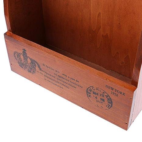Amazon.com: Caja de madera para llaves de montaje en pared ...