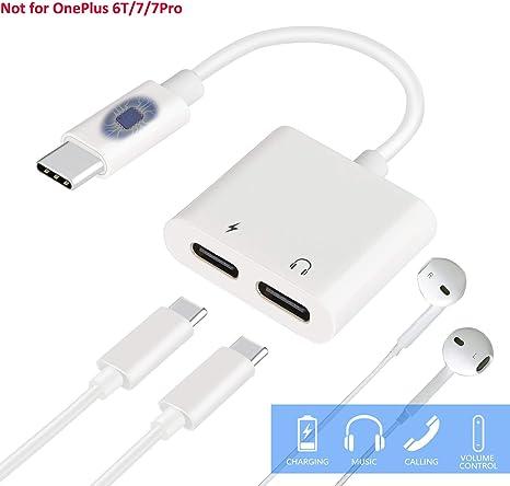 Amazon.com: USB C divisor, HiMusic 2 en 1 USB tipo C macho a ...