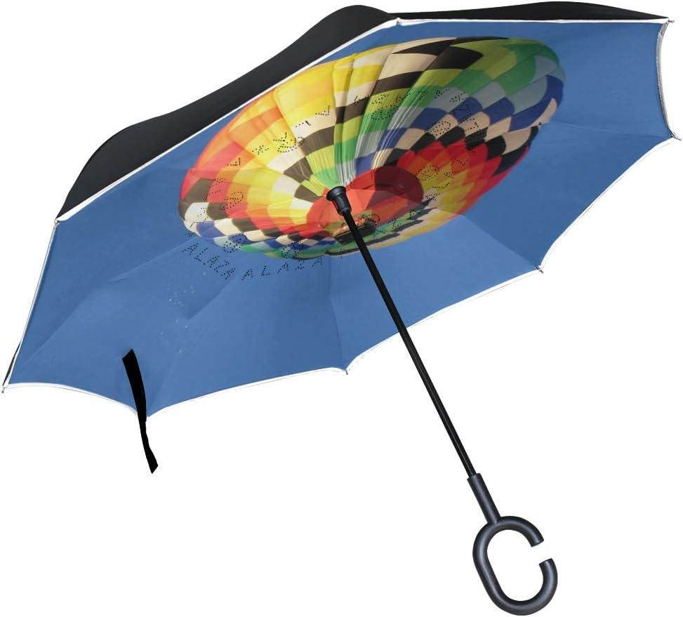 Baizhu Double Layer Inverted Umbrellas Reverse Folding Umbrella Windproof UV Protection Oversize Double Canopy Vented Rain Umbrellas for Men and Women