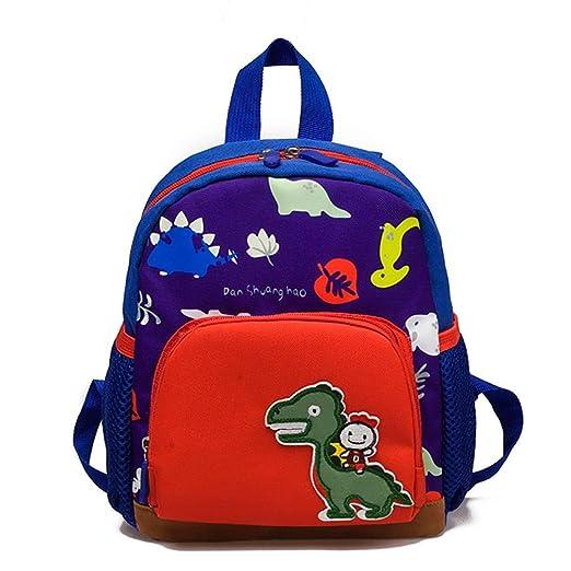 Baby Boys Girls Kids Bag Dinosaur Pattern Cartoon Backpack Toddler School  Bags (Dark Blue) 9b4834c6848ea