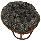 Blazing Needles Patterned Tapestry Papasan Chair Cushion, 48' x 6' x 48', Congo