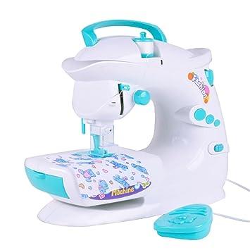 Toyvian Máquina de Coser eléctrica de Gran tamaño con luz y Sonido Juguetes de Bricolaje para niños: Amazon.es: Juguetes y juegos