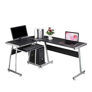 Mesa de Trabajo genérica para Escritorio de Oficina en Forma de L ...