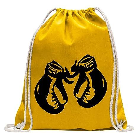 Kiwistar Guantes de Boxeo Fun Mochila Deporte Bolsa de Remise en Forma Gymbag Shopping Algodón con