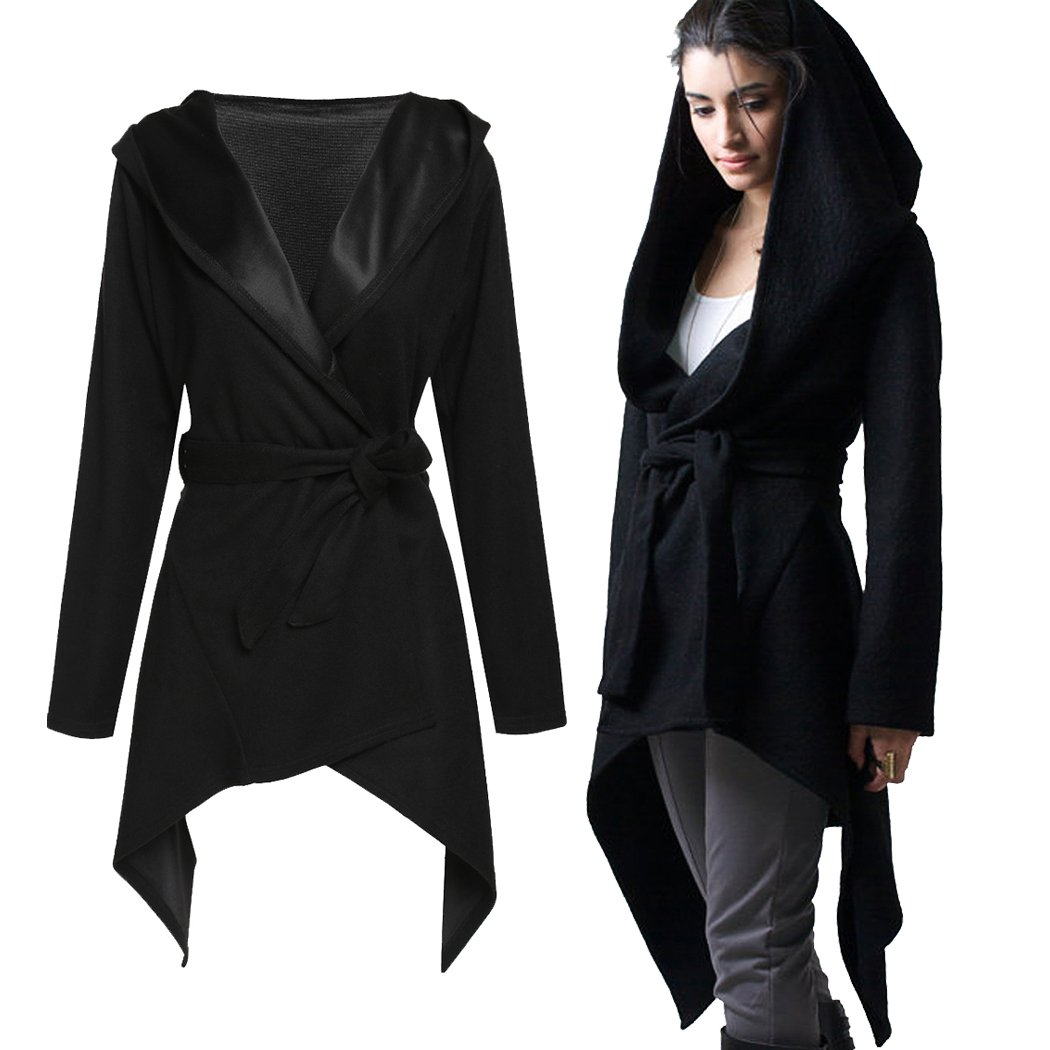 SFY Stylish Women Casual Cardigan Coat Belted Asymmetrical Long Hoody Jacket SoForYou