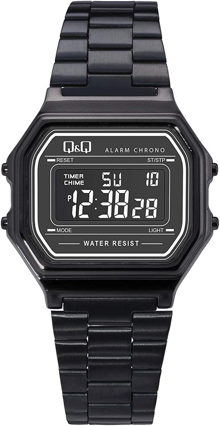 Q&Q Men's' M173J005Y Digital Watch with Stainless Steel Band