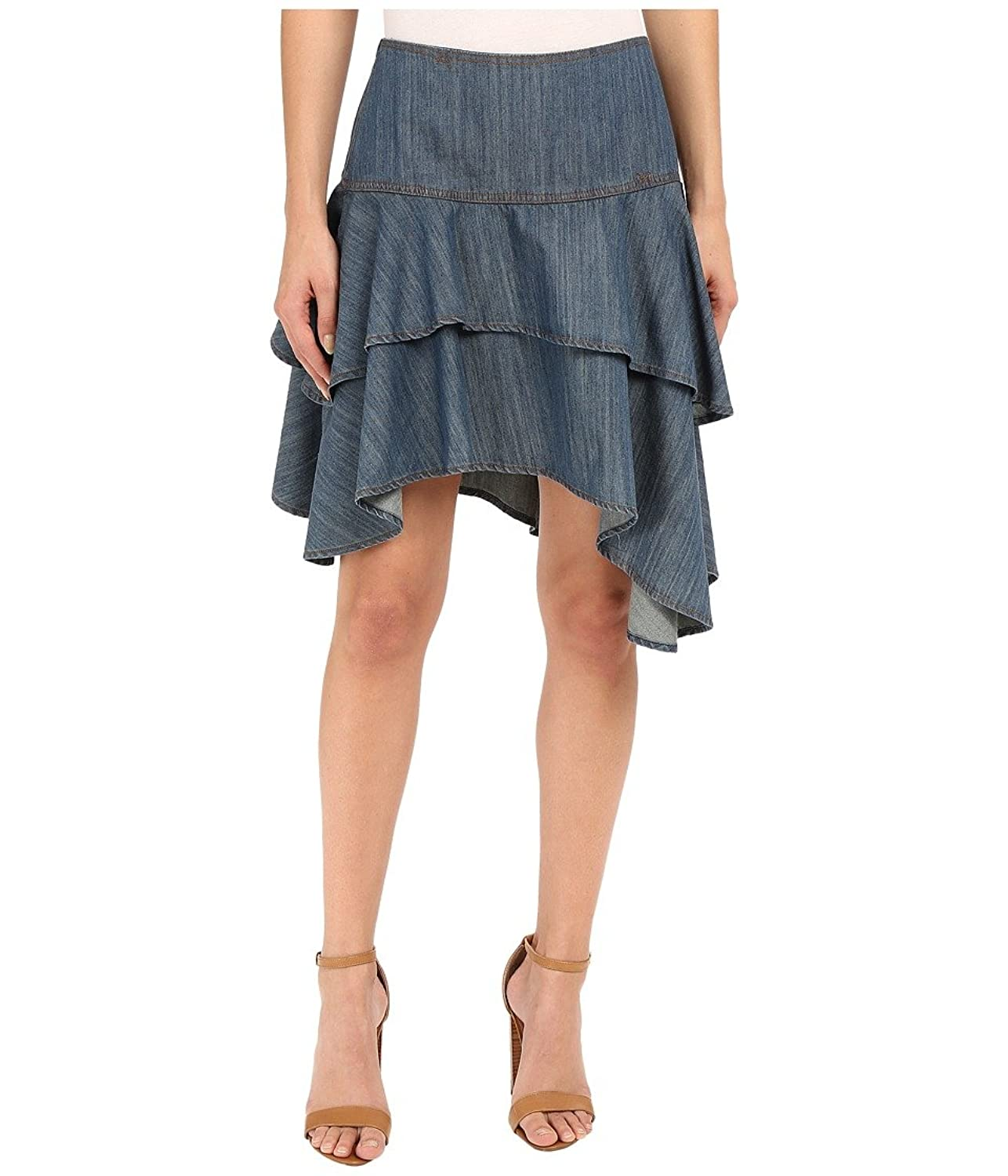 Ariat Womens Haley Chambray Tier Skirt