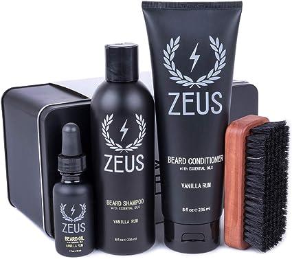 ZEUS Deluxe Beard Grooming Kit for Men - Set de regalo Beard ...