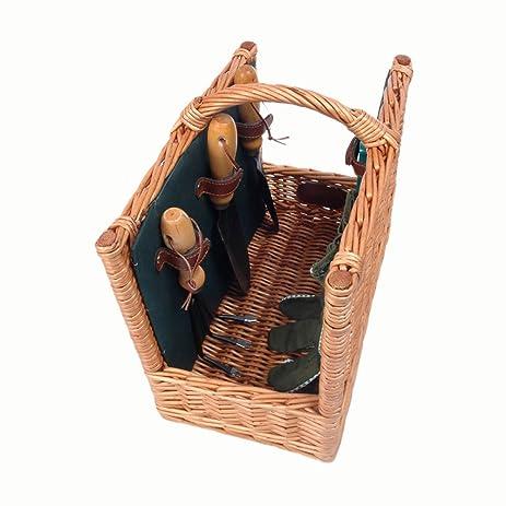 Amazoncom Willow Gardening Basket Picnic Baskets Garden Outdoor