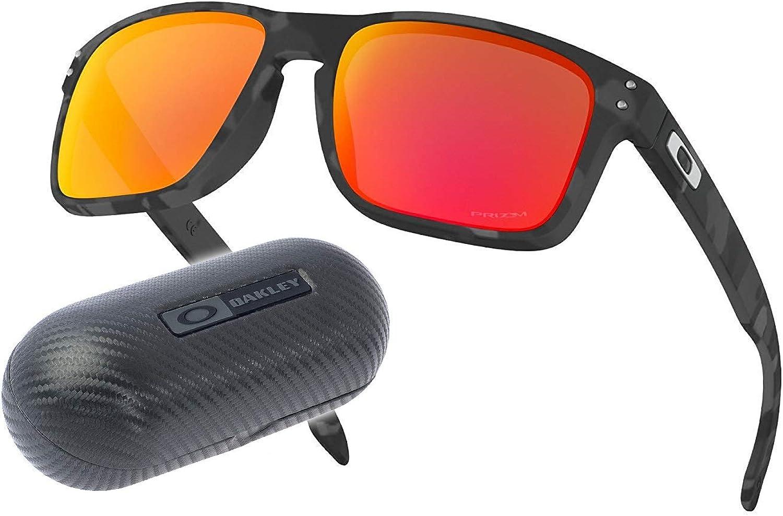 Oakley Holbrook PRIZM | Estuche Carbon | Juego Completo (Black Camo | PRIZM Ruby | Estuche: Carbon Hardcase): Amazon.es: Ropa y accesorios