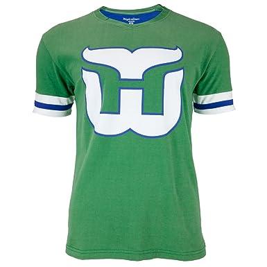 75f39b463 ... francis stitched namenumber throwback hockey jersey b48c6 81750  usa hartford  whalers logo hat trick adult jersey t shirt x large b7a68 6fe81