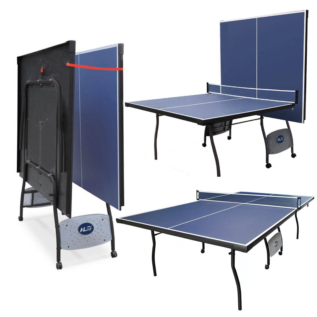 9FT Professional Full Size Folding Indoor Outdoor Fitness Table Tennis  Table Ping Pong Table Set With Net Blue: Amazon.co.uk: Sports U0026 Outdoors