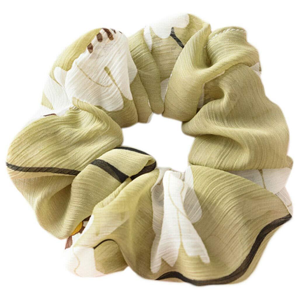 Scrunchie Ponytail Holder Elasticity New Hot Hair Rope Tie Floral Women Girls