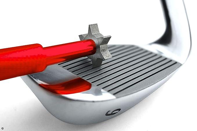 Flybiz Limpiador de Palos de Golf, Cepillo Limpiar Palos de Golf y Hoyuelos por Golf - Cepillo de Dos Lados Nailon y Acero con Punta para Limpiar la ...