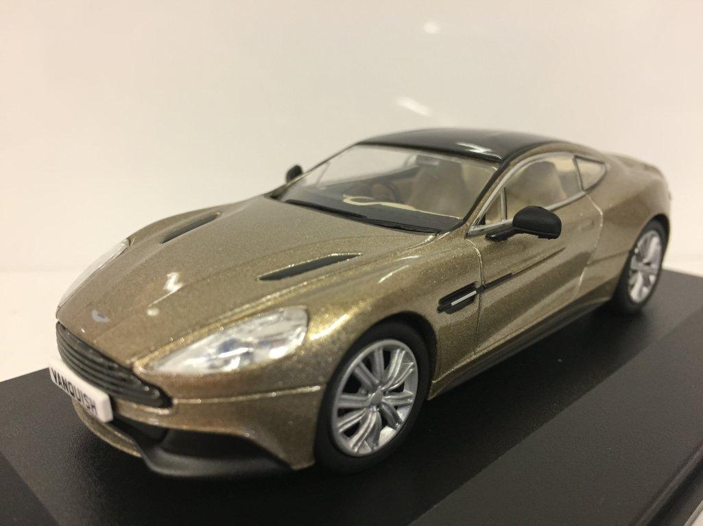 OXFORD DRUCKGUSS AMV002 Aston Martin Vanquish Coupe Selene Bronze Oxford Diecast