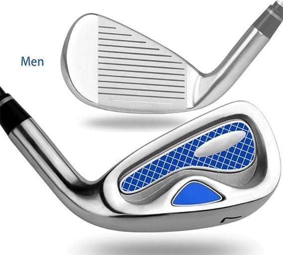 SGZ Hombres Mano Derecha Irons Juego 7 - híbrido (Color : Blue ...
