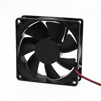 SODIAL(R) Ventilador de Refrigeracion CC 12V 80mm Cuadrado Plastico Negro para Caja de