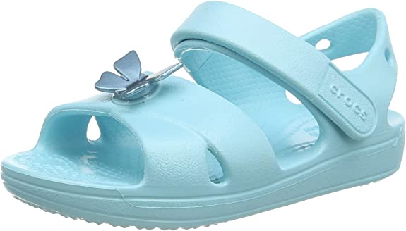 Crocs Unisex Kids' Classic Cross Strap Sandal Ankle,Crocs