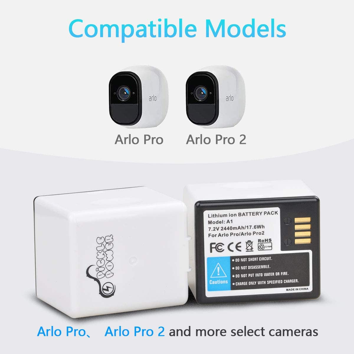 Replacement Battery and Fast Charger for Arlo pro//Arlo pro 2 Surveillance Camera