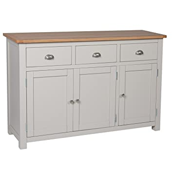 Charmant Portland Painted Oak Large Sideboard / Buffet Table / Grey Painted / Living  Room / New
