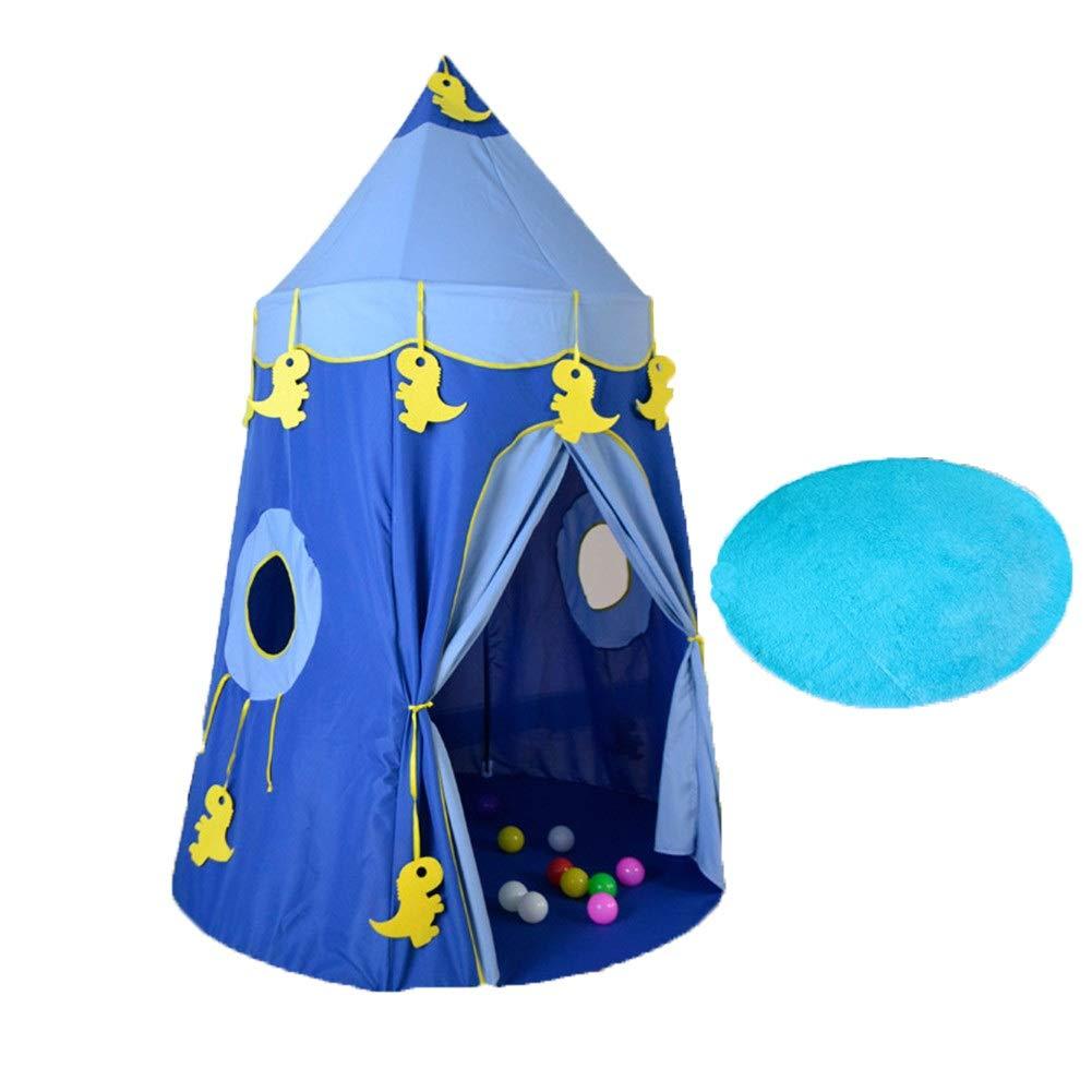 プレイテント プリンセス お城 プレイハウス 屋内 屋外 メッシュ屋根付き 幼児 子供へのプレゼントに最適 (色: ブルー) B07Q3KZYZ7