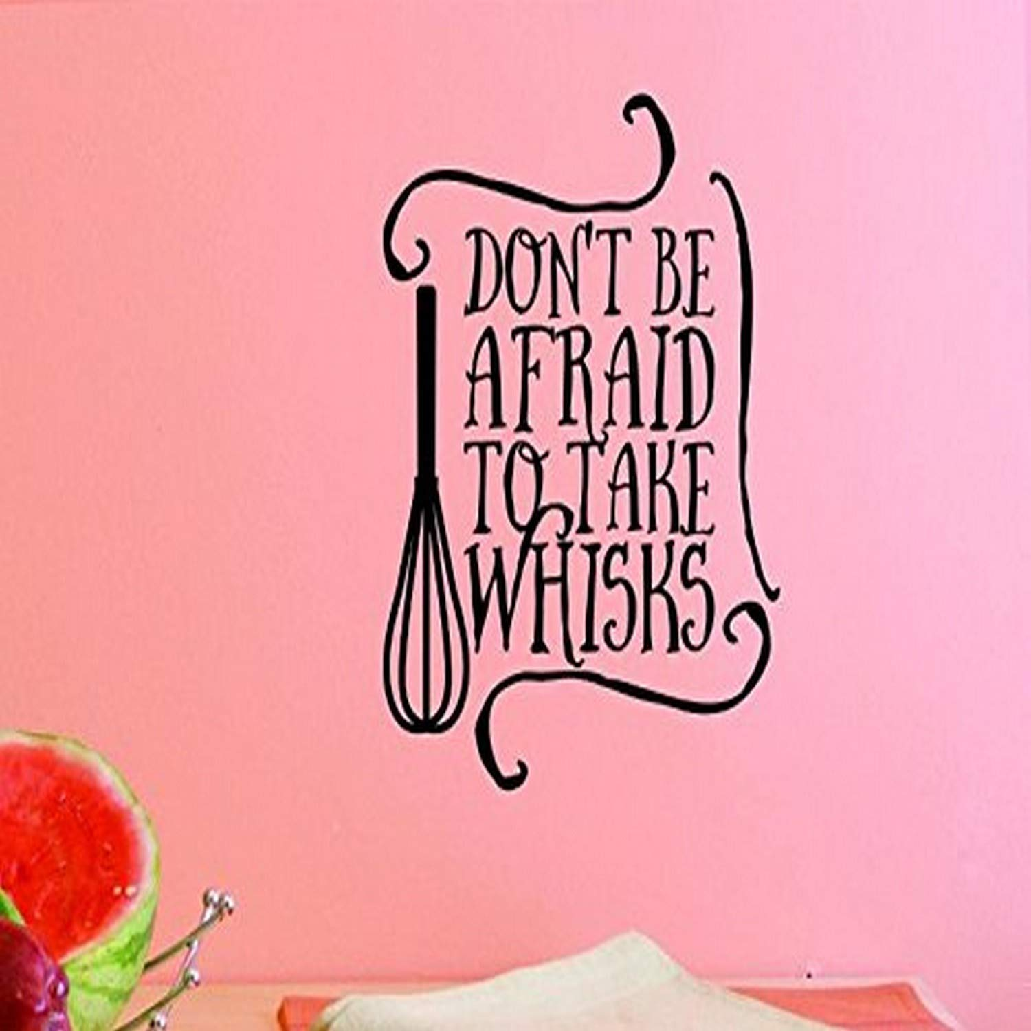 Black 10 x 20 Design with Vinyl US V JER 2469 1 Top Selling Decals Dont Be Afraid To The Whisks Wall Art Size 10 Inches X 20 Inches Color