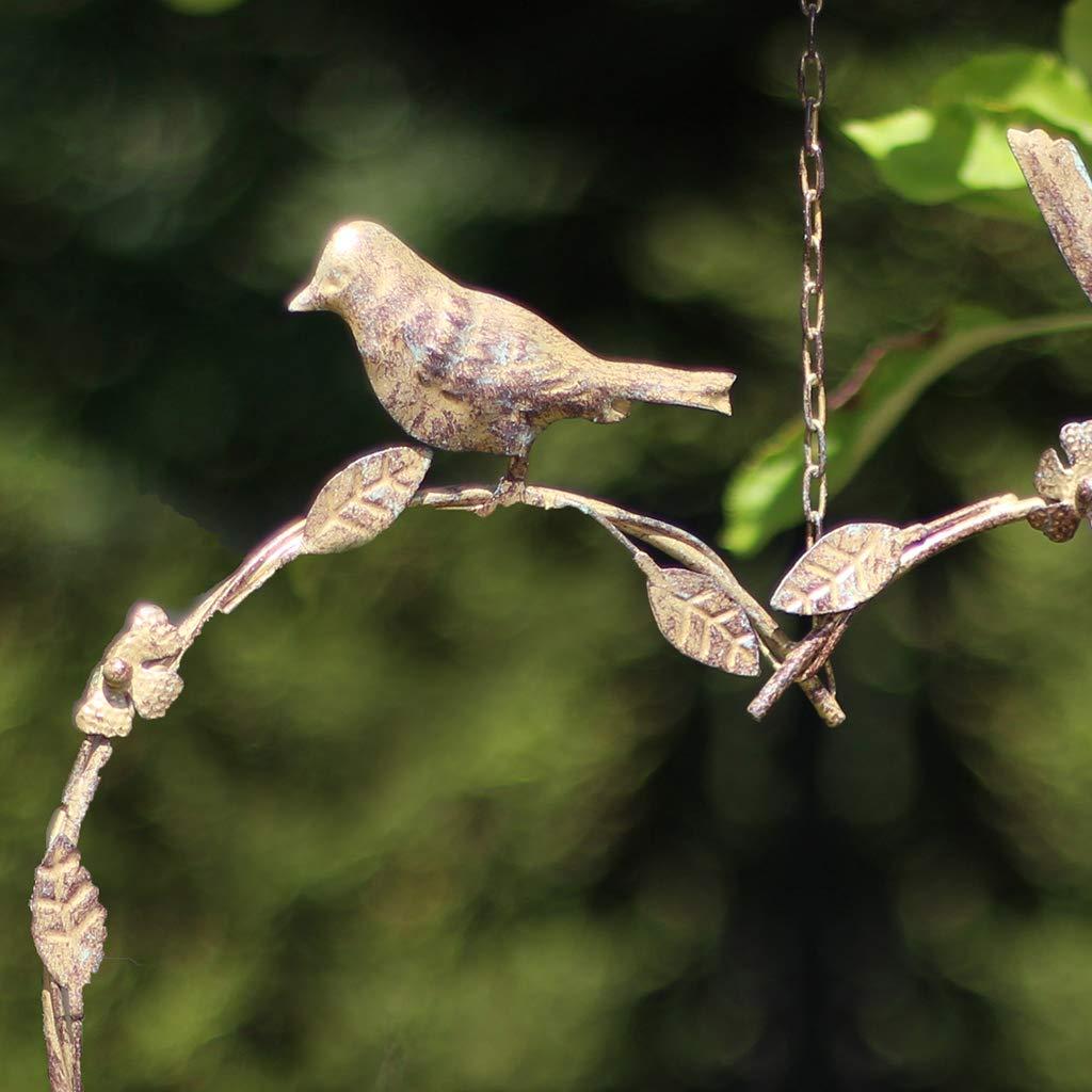 Gepudertes Messing metall h/ängendes Herz formte Vogel zufuhr teller