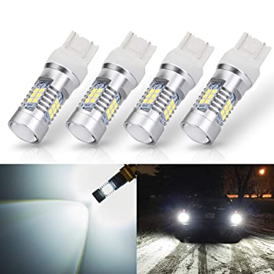 ANTLINE Extremely Bright 7443 7440 T20 7441 992 W21W 21-SMD 2835 Chipsets 1260 Lumens LED Bulb Replacement White for Car Backup Reverse Brake Tail Turn Signal Lights Bulbs DRL (Pack of 4): Automotive