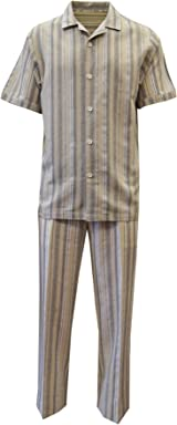 STACY ADAMS 100% Linen Yarn Dyed Stripe Outfit