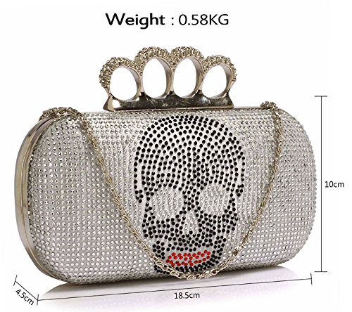 Pattern Box Bag Designer Clubs In Silver Party Women Chain Skull Sale Handbag Design For 1 Ladies With Clutch 4z1dxv1