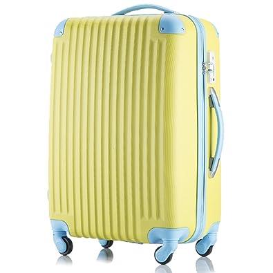 fcd41687d2 Amazon | (トラベルデパート) 安心の3年保証 超軽量スーツケース TSAロック搭載 機内持込み ファスナータイプ ダイヤル式 保管カバー付  | スーツケース