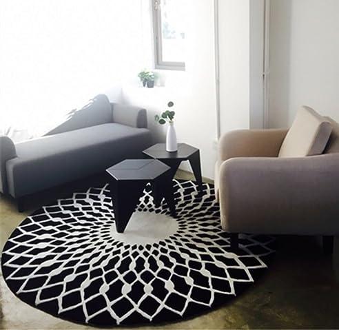 schwarz wei runde wohnzimmer couchtisch groe teppich schlafzimmer studie bodenmatten farbe schwarz - Wohnzimmer Teppich Schwarz Weis