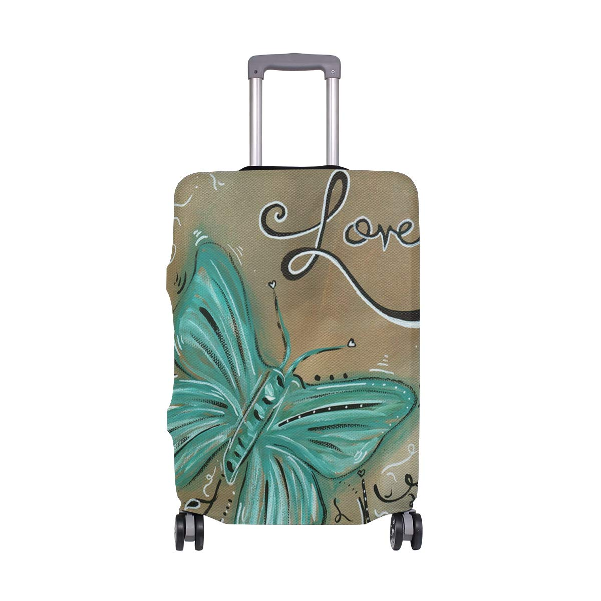 Live And Love Butterfly Travel Luggage Cover Suitcase Protector Fits 18'' - 32''