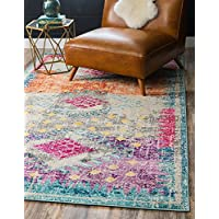 Unique Loom Vita Collection Distressed Abstract Over-Dyed Traditional Multi Area Rug (2 x 3)