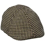 Sperry Top-Sider Men's Menswear Ivy Driver Cap, Black Tan Houndstooth, One Size